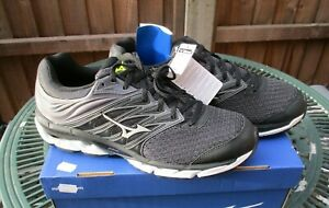 Mizuno Wave Paradox 5 Mens Running Trainers Shoes Black UK 12 Brand New & Boxed