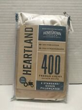 Heartland® HomeGrown™ 400-Thread-Count  Pillowcases SOLID IVORY