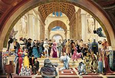 Poster Kunstdruck 100 Jahre Film von Renato Casaro Bild Hollywood Stars 50x35