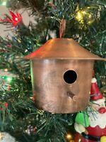 Smith & Hawken Copper Mini BirdHouse Home Decor Ornament Made In Turkey Rare Gem