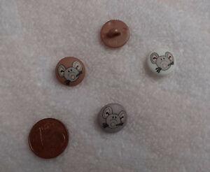 Kinderknöpfe rund mit gedruckter Maus mit Öse 12mm