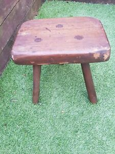 Milking Stool Antique vintage Rustic farm Find Hand made