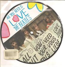 """THE BEATLES """"All You Need Is Love"""" 2 Track Picture 7"""" Vinyl Single"""