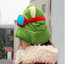 LOL Teemo Hat Hot Fashion Plush Suit Cool Cute Cosplay Green League of Legends