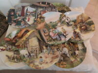 OLD COUNTRY CRAFTS by SUSAN NEALE - COLLECTORS PLATE SERIES ROYAL DOULTON  1990s