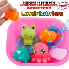 Kids Bath Toys Cartoon Marine Animals Baby Bathtub Salvage Toy Set For Toddlers