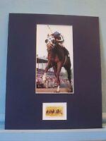 Triple Crown Winner Secretariat wins the Belmont Stakes & the Horse Racing Stamp