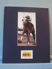 Triple Crown Winner Secretariat wins the Belmont Stakes & the Horse Racing Stamp