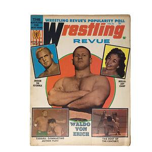 Wrestling Revue Magazine 1968 April Von Erich Tanaka Graham Moolah Peter Maivia