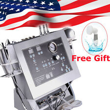US 4in1 Diamond Dermabrasion Ultrasonic COLD Hot Hammer Beauty+Free Facial Brush