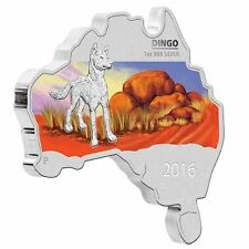 Australia MAP SHAPED COIN SERIES 2016 Dingo 1 OZ SILVER proof COIN