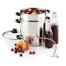 Entsafter Fruchtsaft Herstellung Glasdeckel inkl. Schlauch und Klemme Edelstahl