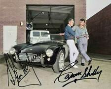 Steve McQueen and Carrol Shelby Signed 8x10 RARE COLOR Photo 601