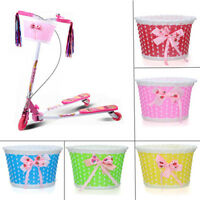 Bike Flowery Front Basket Bicycle Cycle Shopping Stabilizers Children Kids GirlM
