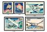2020 JAPAN INTERNATIONAL LETTER WRITING WEEK 5 stamps comp set  Unused