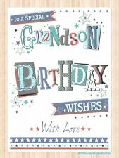 Grandson Birthday Card ~ 'To A Special Grandson With Love'