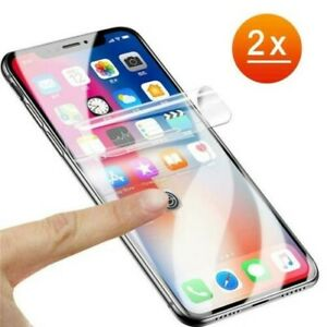 2x TPU Protective Foil Full Cover 3D 5D Display Glass Clear Rimless Clear