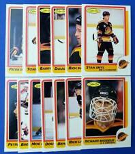1986-87 O-Pee-Chee VANCOUVER CANUCKS TEAM SET OPC Hockey NM - MINT