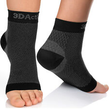 3DActive Plantar Fasciitis Compression Foot Sleeves for Men & Women Arch Support