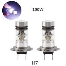 2X H7 Cree LED 6000K 100W 20SMD Super Bright Fog DRL Headlight White Light Bulb