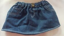BUILD A BEAR LABELED BLUE DENIM SKIRT for kids play • pre-owned • nice cond