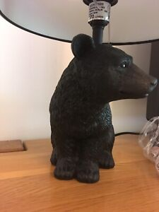 Black Bear Animal Hunting Woodland Table Desk Bedside Lamp Light NEW OTHER