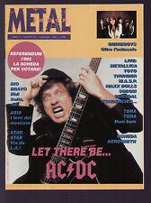 METAL SHOCK 133/1992 AC/DC QUIREBOYS METALLICA AEROSMITH + KING DIAMOND POSTER