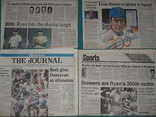 Milwaukee Journal and Sentinel Nolan Ryan 300th win Texas Rangers