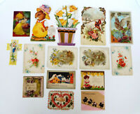 16 Antique Cards Easter Christmas New Years Merit Postcards 1918-35 Estate Lot