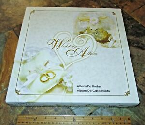 Vintage NEW in Box Wedding Scrapbook Spiral Album 20 Assorted Pages FREE SHIP