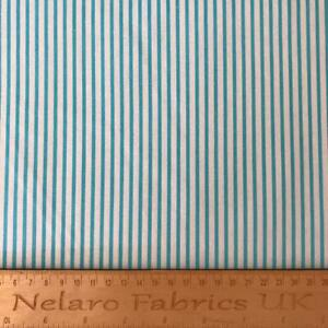 Large Stripe white/aqua fabric by John Louden - CLEARANCE!
