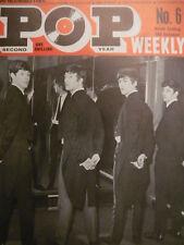 POP WEEKLY MAGAZINE NO 6 1963 - BEATLES - BILLY FURY - ALMA COGAN
