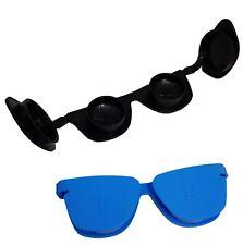 Funky 3D Gafas de Sol Anteojos Lentes De Contacto Estuche de remojo de almacenamiento-Azul