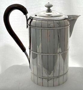 """Georgian, George III, Silver """"Coopered Barrel"""" Coffee Biggin. 1796 John Touliet."""