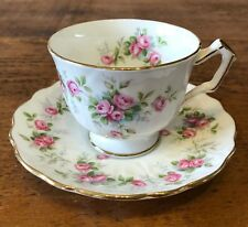 Aynsley Crocus Grotto Rose Teacup And Saucer