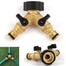 3/4'' Two Way Double Garden Twin Tap Hose Pipe Splitter Faucet Connector Top