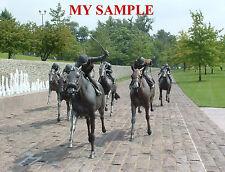 KENTUCKY THOROUGHBRED PARK BRONZE HORSE RACING JOCKEY SILK SADDLE CLOTH PHOTO #2