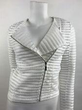 NWT Sen Woman Mesh Moto Jacket Pamela SZ XS White