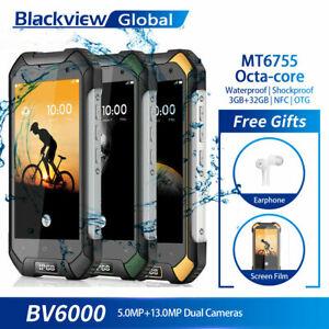 Blackview BV6000s 2GB 16GB Smartphone Téléphone Débloqué Étanche 4G Dual SIM NFC