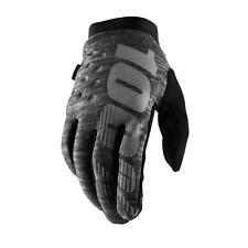 Cycling Full Finger Gloves 100% Brisker Cold Weather Heather Grey Large