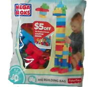 Mega Blocks 80 Piece Big Bag Fisher Price First Builders Set Gift For Baby