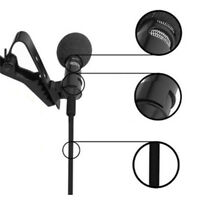 3.5mm Hands-free Clip on Mini Lapel Microphone Mic for Computer PC Smart-Phone
