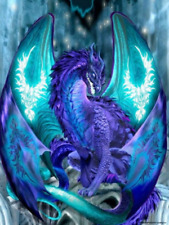AU Blue Dragon Full Drill 5D Diamond Painting Embroidery Cross Stitch Kit LE