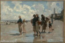 The Oyster Gatherers Of Cancale by John Singer Sargent Giclee Canvas Print