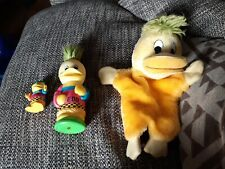 Edd The Duck Cuddly Hand Puppet and toy / figure bundle 1980s