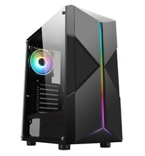 CiT Pyro Mid Tower Gaming Case - Black USB 3.0