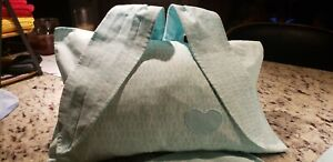 TWO Organic Baby Bunny Pillow Cases The Land of Nod Blue by Crate and Barrel