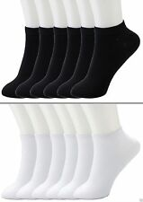 6-12 Packs Ankle Cool Socks Sport Mens Womens Size 6-8 Low Cut Lot NWT#70033A