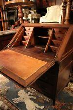 Bureau de pente scriban noyer massif secrétaire 18e Louis 16 desk
