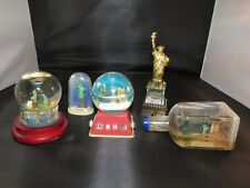 Lot 6 Nyc Snow Domes Globes - Statue of Liberty, Skyline w/ Balloon, Twin Tower